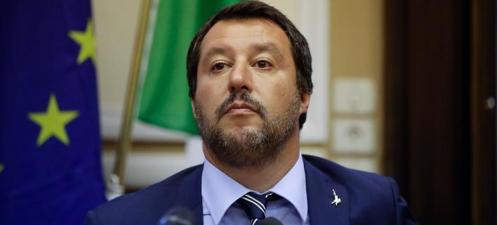 O αντιπρόεδρος της ιταλικής κυβέρνησης και αρχηγός της λαϊκιστικής Λέγκα, Ματέο Σαλβίνι (Φωτογραφία: ΑΡ)