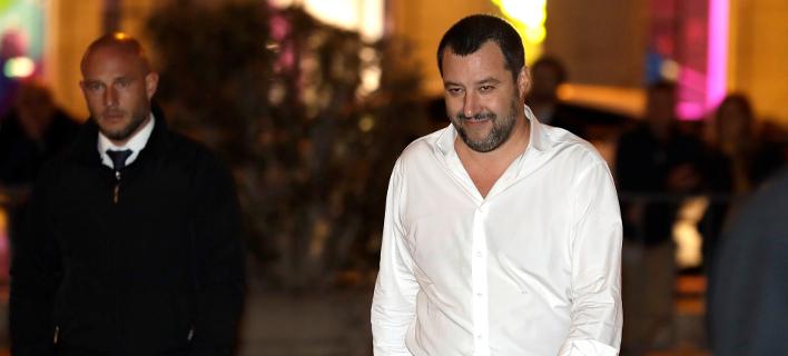 Ο αντιπρόεδρος της κυβέρνησης λαϊκιστών της Ιταλίας, Ματέο Σαλβίνι (Φωτογραφία: AP/Andrew Medichini)
