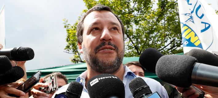 Ο Ιταλός υπουργός Εσωτερικών και ηγέτης της ακροδεξιάς Λέγκας, Ματέο Σαλβίνι (Φωτογραφία: ΑΡ)