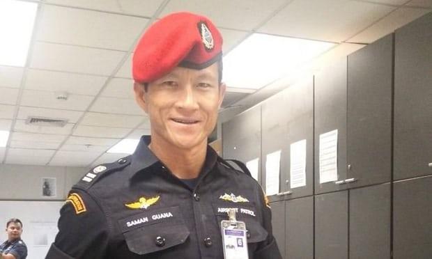 H κοινή γνώμη της Ταϊλάνδης χαιρετίζει ως ήρωα τον Σαμάν Κουνάν (Φωτογραφία: Twitter)