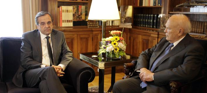Στον Παπούλια ο Σαμαράς -Ζήτησε τη διάλυση της Βουλής