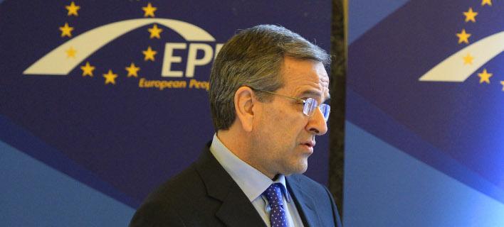 Ο Αντώνης Σαμαράς στη Ρώμη σε συνέδριο ευρωβουλευτώντ ου ΕΛΚ -Φωτογραφία αρχείου: Intimenews
