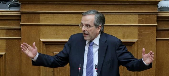 Ο Αντώνης Σαμαράς στη Βουλή για την υπόθεση Novartis -Φωτογραφία: Intimenews
