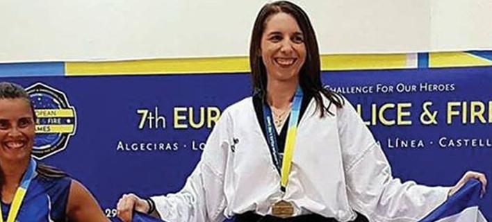 Η πρωταθλήτρια στο TAEKWODO- Φωτογραφία: xronos.gr