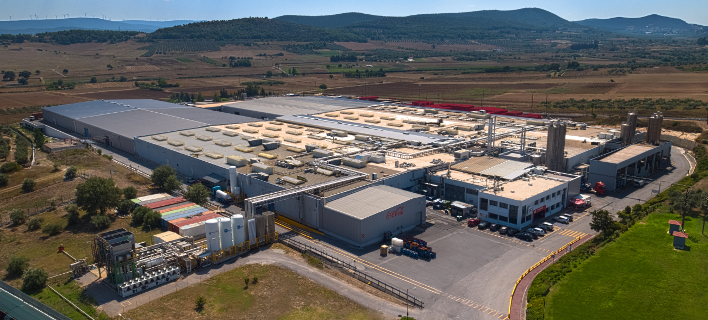To διανεμητικό κέντρο του Mega-Plant στο Σχηματάρι Βοιωτίας