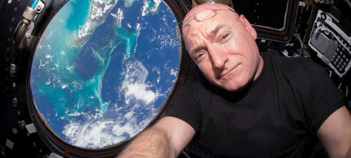 O Αμερικανός αστροναύτης Σκοτ Κέλι παρέμενει επί 520 συνεχείς μέρες στο διάστημα (Φωτογραφία αρχείου: ΑΡ)