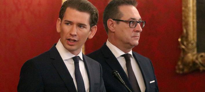 Ο συντηρητικός ηγέτης της Αυστρίας, Σεμπάστιαν Κουρτς. Φωτογραφία: AP