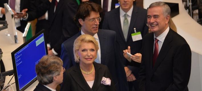 Η οικογένεια Σέφλερ την πρώτη ημέρα εισαγωγής της εταιρείας στο Χρηματιστήριο/Φωτογραφία: Schaeffler Group