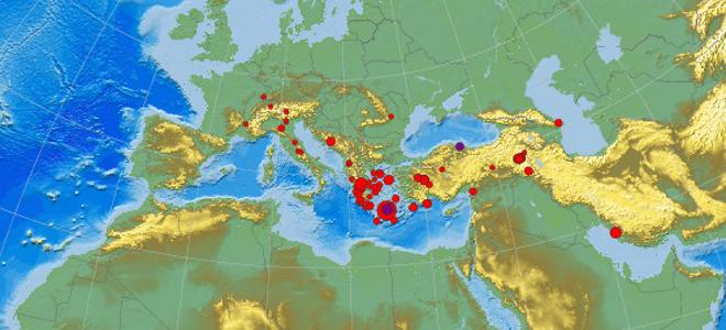 68 σεισμοί σε 34 ώρες στο τρίγωνο Σαντορίνη, Κρήτη, Ρόδος [χάρτες]