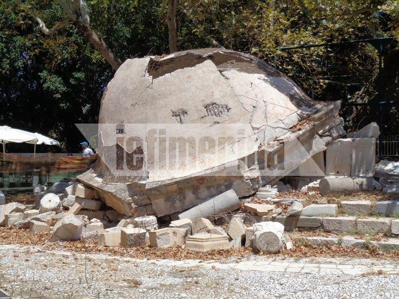Παραμένουν οι καταστροφές και στους αρχαιολογικούς χώρους