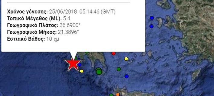 Ισχυρός σεισμός 5,4 Ρίχτερ στην Πύλο