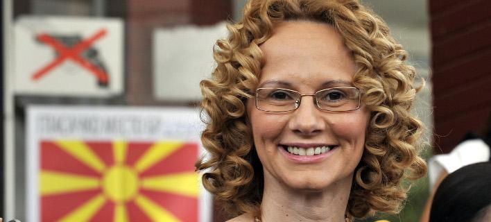 H αντιπρόεδρος της κυβέρνησης και υπουργός Άμυνας της ΠΓΔΜ, Ραντμίλα Σεκερίνσκα (Φωτογραφία: ΑΡ)