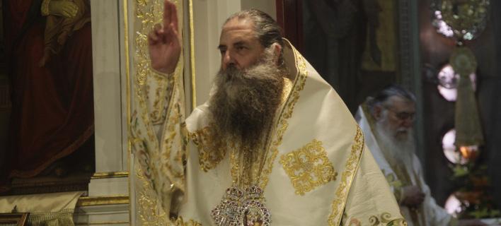 Ο Μητροπολίτης Σεραφείμ (Φωτογραφία: EUROKINISSI/ ΧΡΗΣΤΟΣ ΜΠΟΝΗΣ)