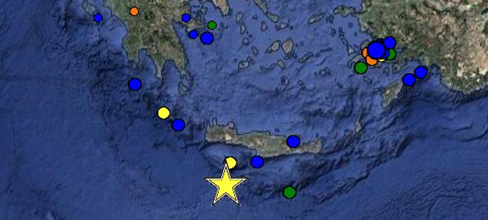 Κρήτη: Σεισμός 5,1 Ρίχτερ ταρακούνησε το βράδυ τη Γαύδο [εικόνα]