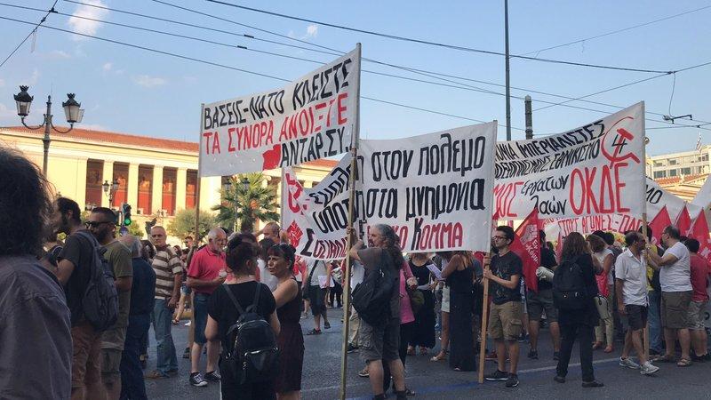 Αντιπολεμικό συλλαλητήριο στην Αθήνα, κάλεσμα ΑΝΤΑΡΣΥΑ