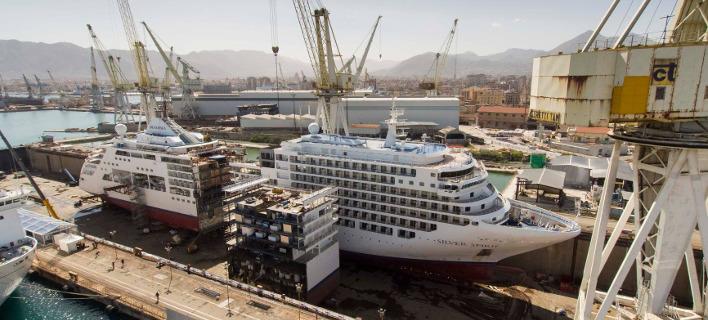 Το κρουαζιερόπλοιο Silver Spirit. Φωτογραφία: Facebook/Silversea