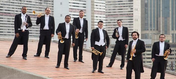 Η οχταμελής ορχήστρα Simon Bolivar Trumpet Ensemble (πηγή φωτογραφίας: snfcc.org)