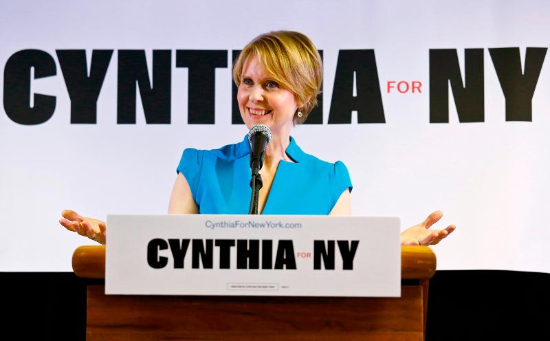 Από την πρώτη της καμπάνια μετά την ανακοίνωση της υποψηφιότητάς της για τη Νέα Υόρκη/Φωτογραφία: ΑΡ