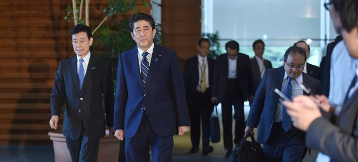 Σίνζο Αμπε (Φωτογραφία: Kazuhiro Nogi/Pool Photo via AP)