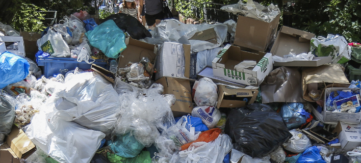 Σκουπίδια Αθήνα/ Φωτογραφία eurokinissi
