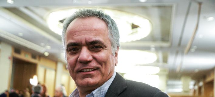 Ο γραμματέας του ΣΥΡΙΖΑ Πάνος Σκουρλέτης- φωτογραφία eurokinissi