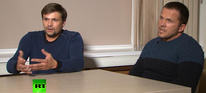 Οι 2 ύποπτοι για τη δηλητηρίαση, δεξιά ο Πετρόφ ή Μίσκιν/ Φωτογραφία: AP
