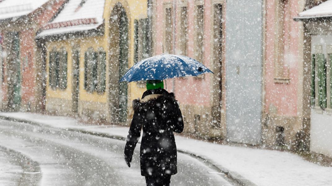 Στο μεταξύ, στη Γερμανία χιονίζει -Πρόβλεψη για κακοκαιρία και χαμηλές θερμοκρασίες ως την Τετάρτη -Φωτογραφία: Nicolas Armer/dpa via AP