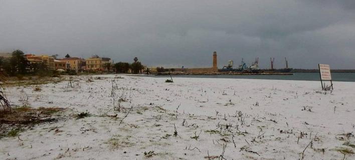 χιόνια στο Ρέθυμνο/Φωτογραφία: hanianews