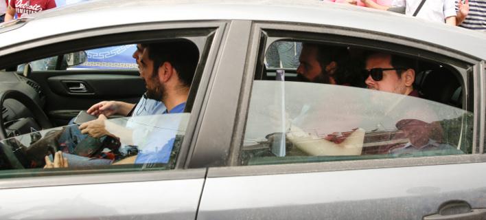 Ο Αρτένης Σώρρας κατά την άφιξή του στα δικαστήρια. Φωτογραφία: Eurokinissi
