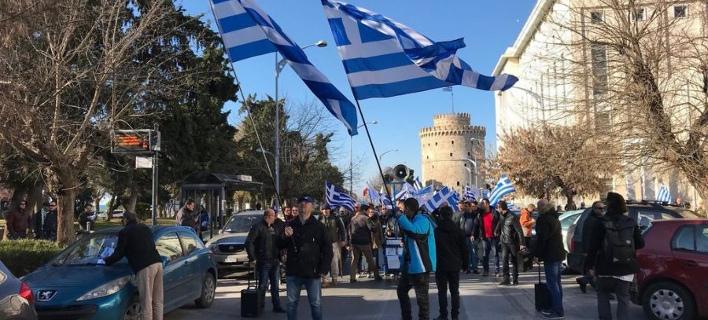 Πορεία στη Θεσσαλονίκη από οπαδούς της Ελλήνων Συνέλευσις (Φωτογραφία: thestival)