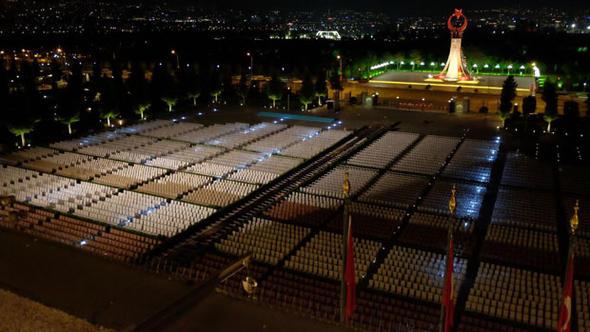 Ολα έτοιμα στον χώρο όπου θα πραγματοποιηθεί η ορκωμοσία του Ερντογάν στο προεδρικό μέγαρο
