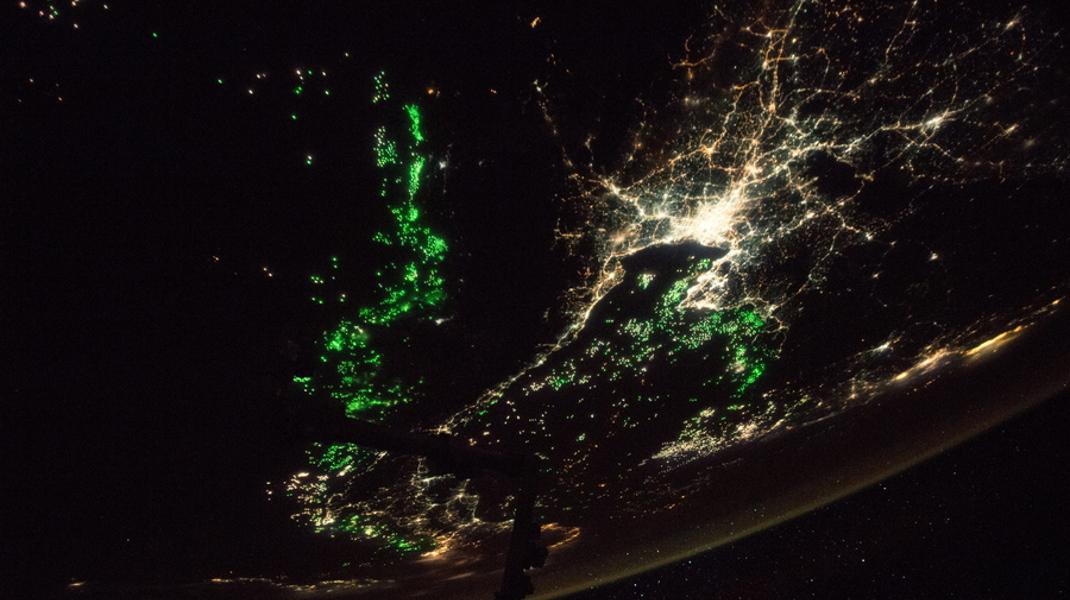 Αστροναύτης απαθανάτισε από τον Διεθνή Διαστημικό Σταθμό την πρωτεύουσα της Ταϊλάνδης, Μπανγκόκ, τη νύχτα - Φωτογραφία: EPA/NASA HANDOUT