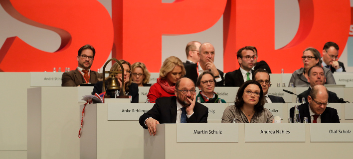 Ο Μάρτιν Σουλτς στο συνέδριο του SPD (Φωτογραφία: AP Photo/Markus Schreiber)