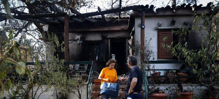 καμένα σπίτια στο Μάτι/Φωτογραφία: EUROKINISSI/ΓΙΑΝΝΗΣ ΠΑΝΑΓΟΠΟΥΛΟΣ