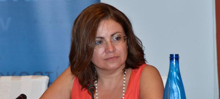 Η εκπρόσωπος τύπου της Νέας Δημοκρατίας Μαρία Σπυράκη- φωτογραφία intimenews