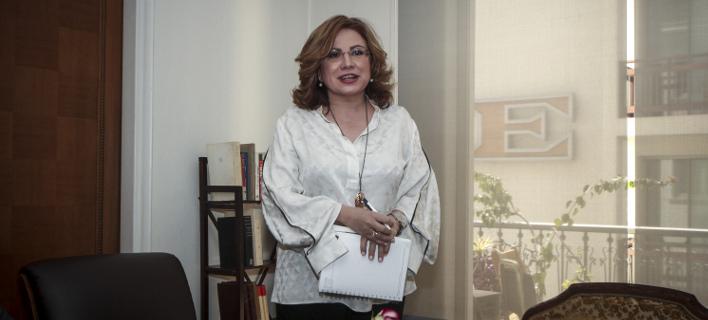 Η Μαρία Σπυράκη (Φωτογραφία: EUROKINISSI/ΣΩΤΗΡΗΣ ΔΗΜΗΤΡΟΠΟΥΛΟΣ)