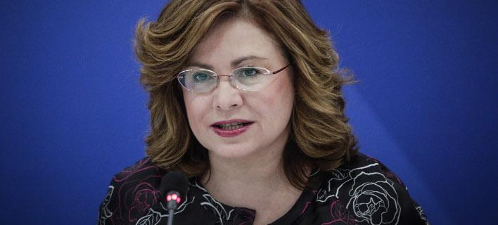 Η εκπρόσωπος Τύπου της ΝΔ και ευρωβουλευτής Μαρία Σπυράκη, φωτογραφία: eurokinissi