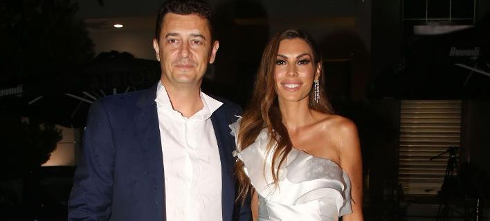 Αντώνης Σρόιτερ και Ιωάννα Μπούκη την ημέρα του γάμου τους/Φωτογραφία: NDPphoto