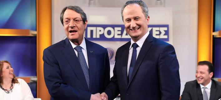 Προεδρικές εκλογές Κύπρου: Με ενωτικό τόνο αποχώρησαν από το debate Αναστασιάδης και Μαλάς