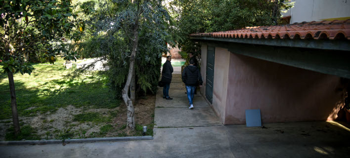Το σπίτι του 52χρονου επιχειρηματία στην Κηφισιά. Φωτογραφία: Eurokinissi