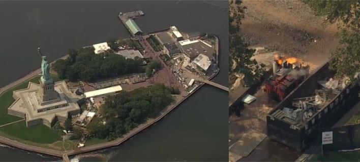 Νέα Υόρκη: Εκρηξη & φωτιά κοντά στο Αγαλμα της Ελευθερίας -Εκκένωσαν το Liberty Island [βίντεο]