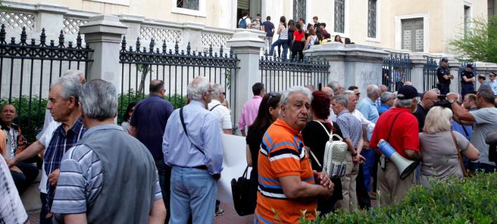 Συλλαλητήριο συνταξιούχων έξω από το ΣτΕ/Φωτογραφία: Eurokinissi