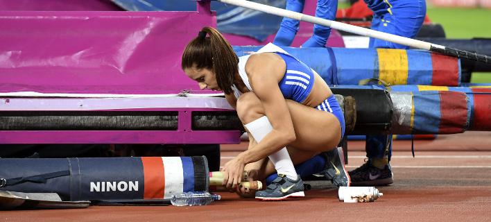 Η Κατερίνα Στεφανίδη (Φωτογραφία: ΒΑΣΙΛΗΣ ΚΟΥΤΡΟΥΜΑΝΟΣ / Eurokinissi Sports)