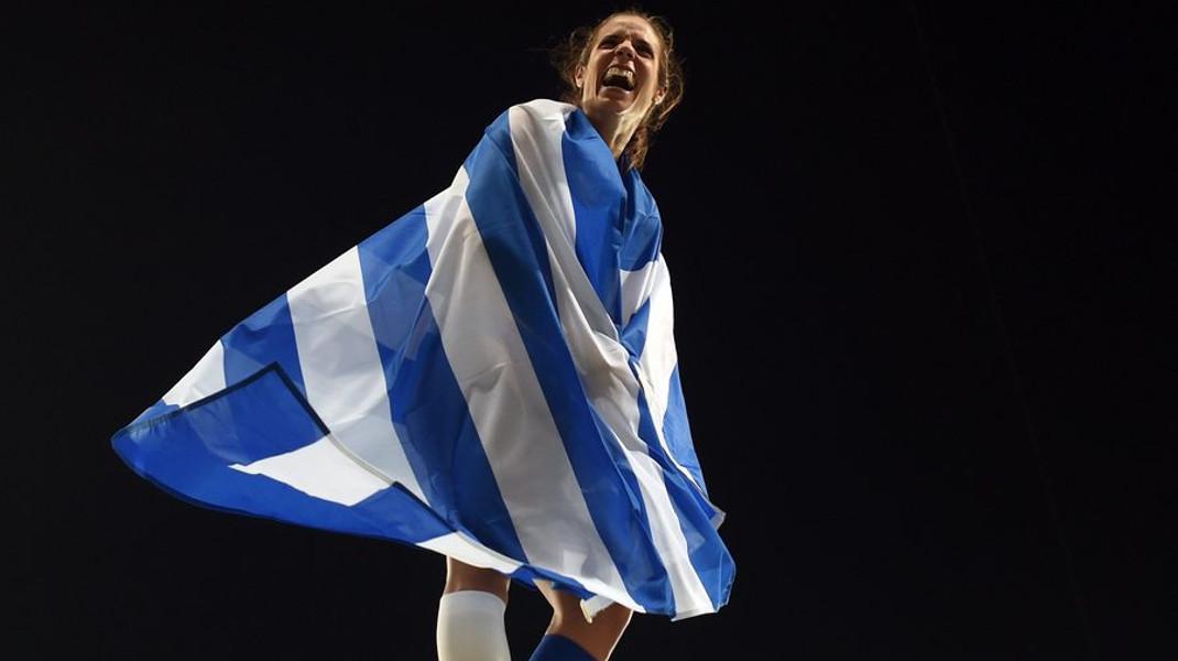 Η Κατερίνα Στεφανίδη πήρε την Ελλάδα στους ώμους της και την σήκωσε πολύ ψηλά - Φωτογραφία: EPA/LUKAS COCH