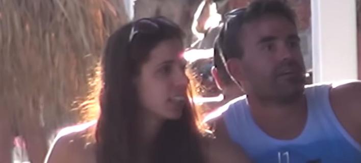 Στη Μύκονο με τον σύζυγό της η Κατερίνα Στεφανίδη -Τρυφερές στιγμές [βίντεο]