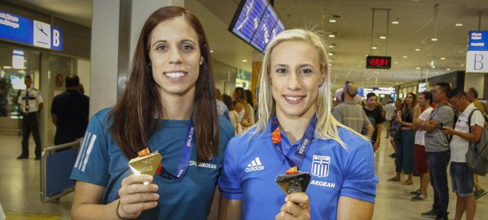 Κατερίνα Στεφανίδη και Νικόλ Κυριακοπούλου /Φωτογραφία: Εurokinissi
