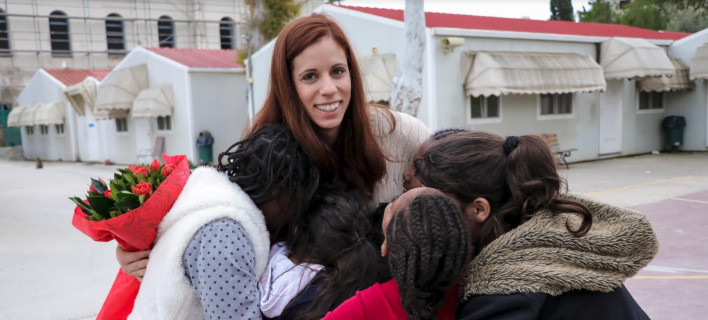 Επίσκεψη της Κατερίνας Στεφανίδη, στο Χατζηκυριάκειο Ίδρυμα Παιδικής προστασίας στο πλαίσιο της Stoiximan Tokyo Team