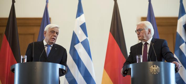Ο πρόεδρος της Γερμανίας, Φρανκ Βάλτερ Στάινμαγιερ, φθάνει αύριο στην Αθήνα (Φωτογραφία: Bernd von Jutrczenka/dpa via AP)