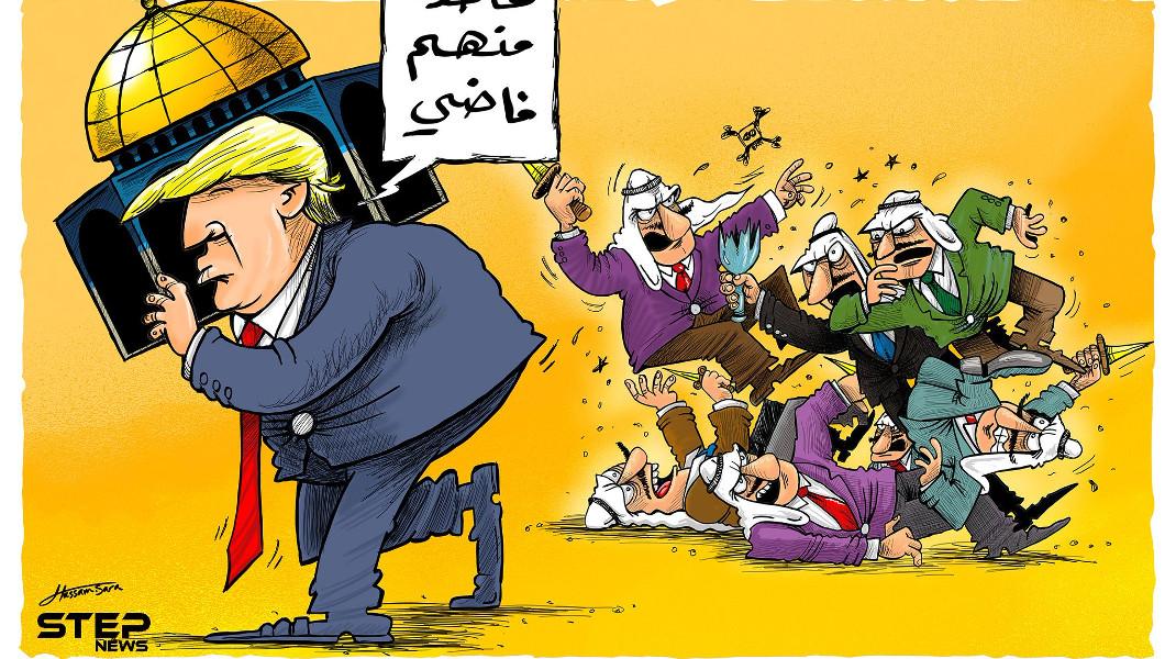 Η αρπαγή της Ιερουσαλήμ από τον Τραμπ -Σκίτσο στο stepnews