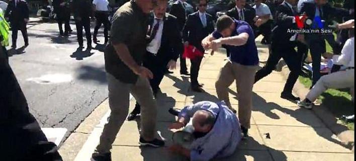 Βίντεο ντοκουμέντο: Ο Ερντογάν παρακολουθεί τον ξυλοδαρμό Κούρδων στην Ουάσινγκτον